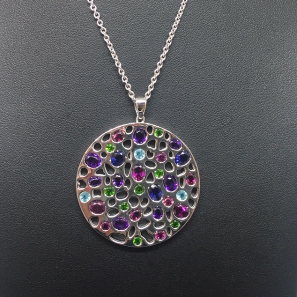 LIMITED EDITION - Gemstone Disc Pendant