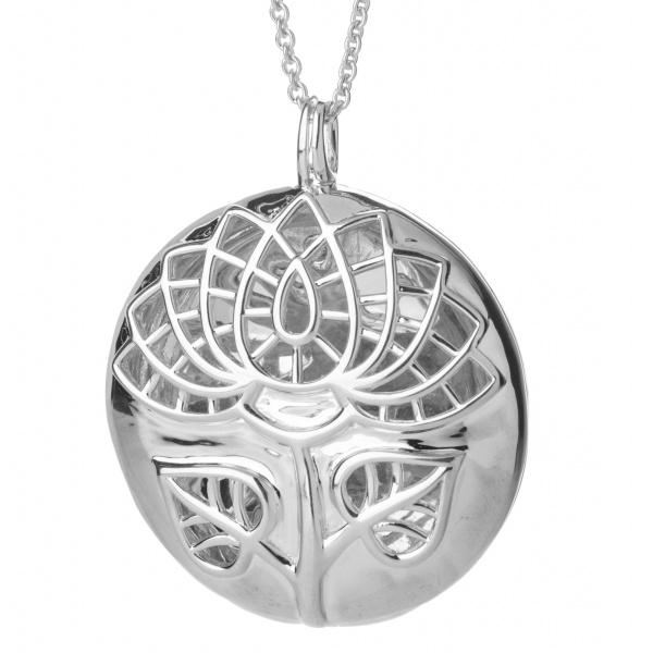 Lotus Locket Pendant