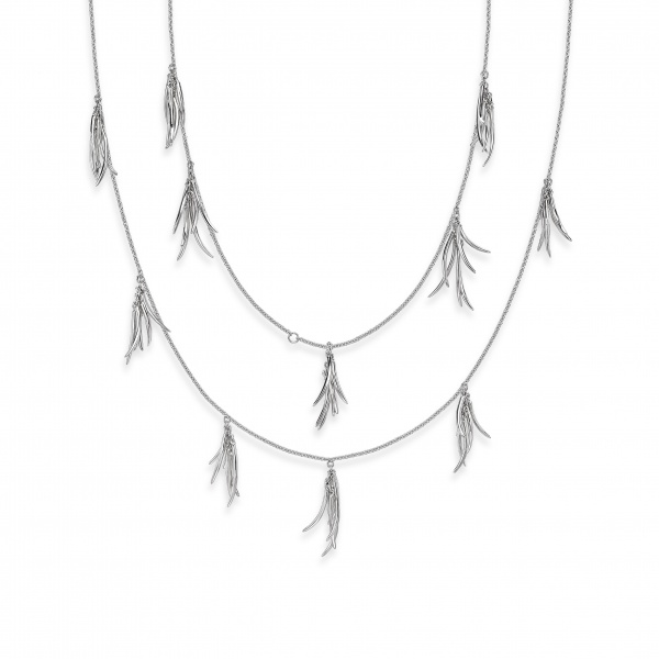 Molto Cluster Long Line Necklace