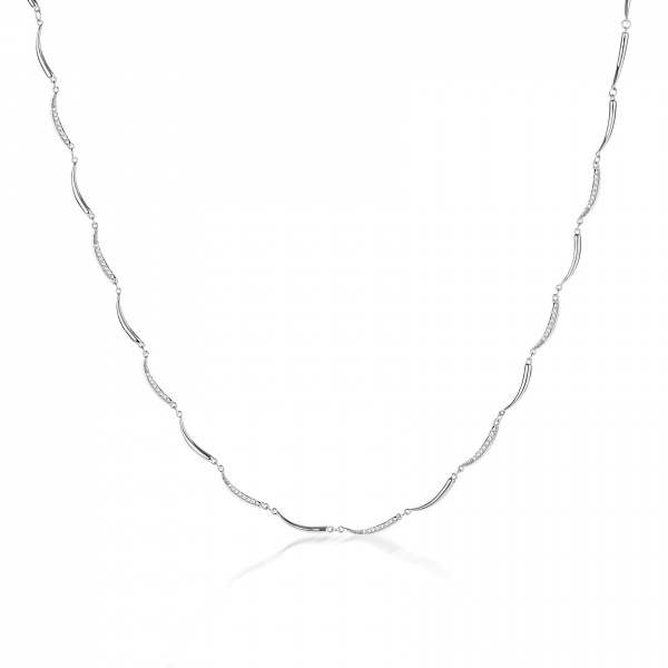Molto Mini Bar Necklace Diamond