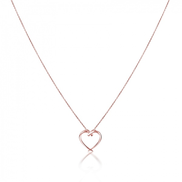 Molto Heart Pendant Rose Gold Overlay