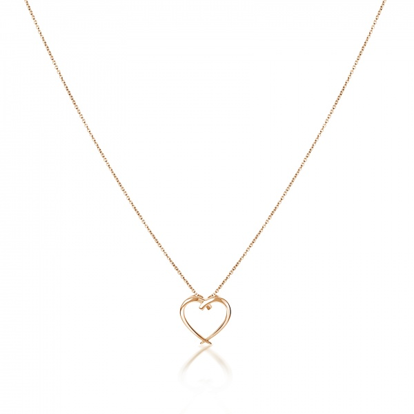 Molto Heart Pendant Yellow Gold Overlay