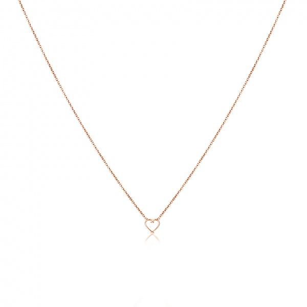 Molto Mini Heart Pendant Rose Gold Overlay