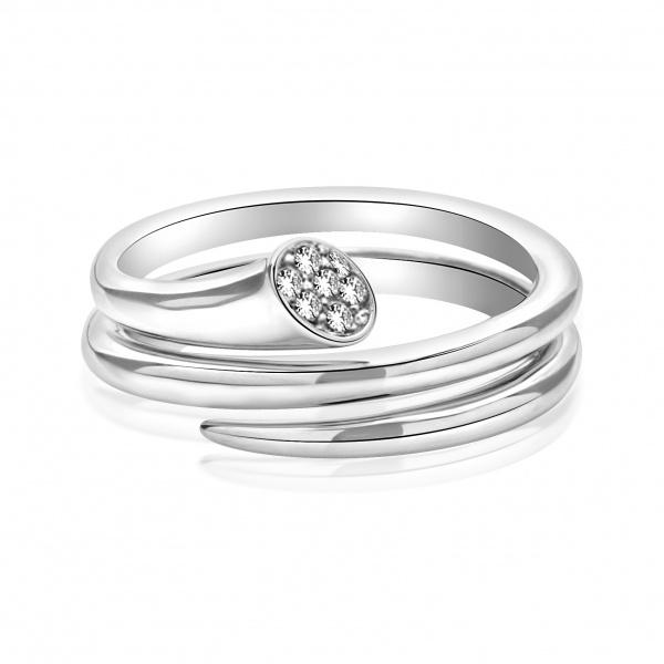 Molto Diamond Double Wrap Ring - Size L