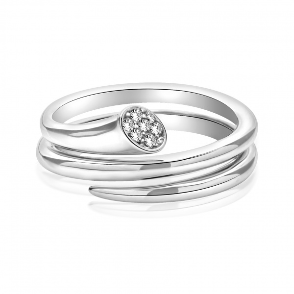 Molto Diamond Double Wrap Ring - Size P