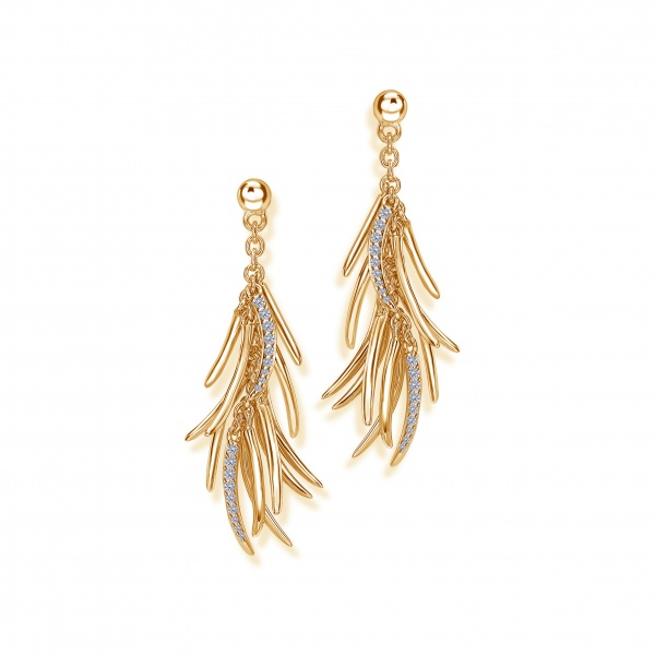 Molto Earrings 18k Gold & Diamonds