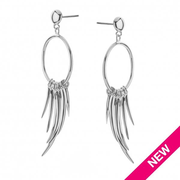 Molto Spike Earrings Silver