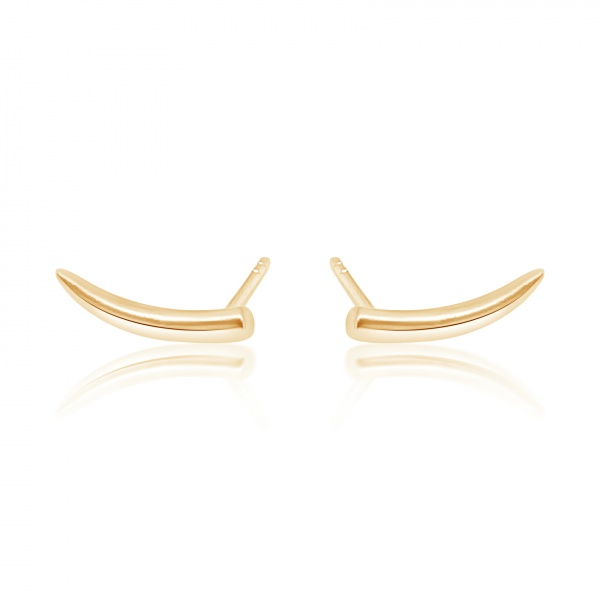 Molto Mini Stud Yellow Gold Overlay