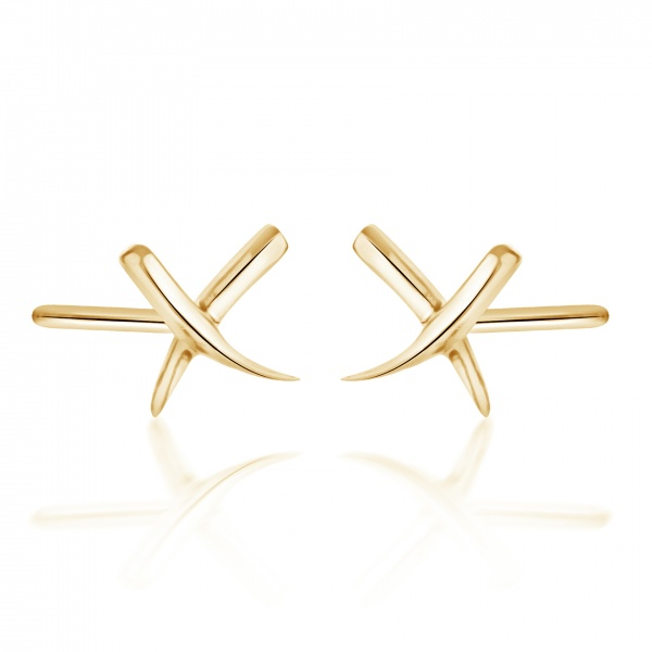 Molto Kiss Studs Yellow Gold Overlay