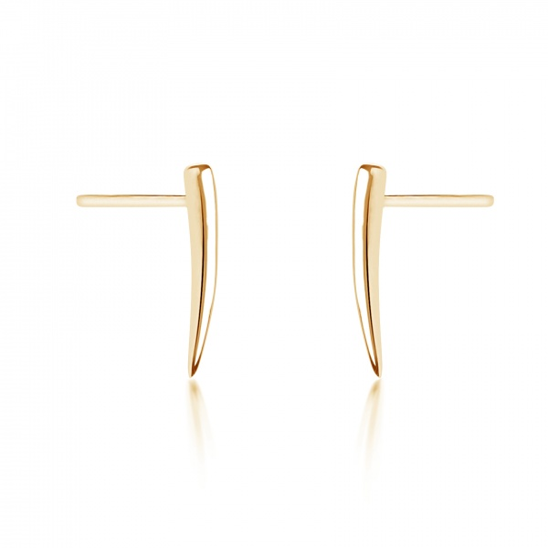 Molto Micro Stud Earrings Yellow Gold Overlay