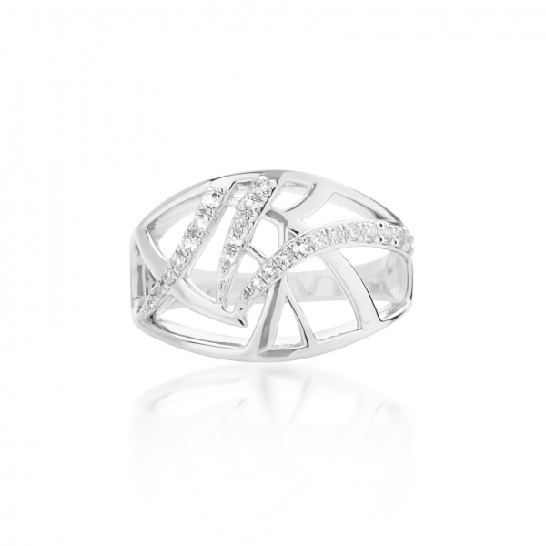 Molto Ice Band Ring CZ