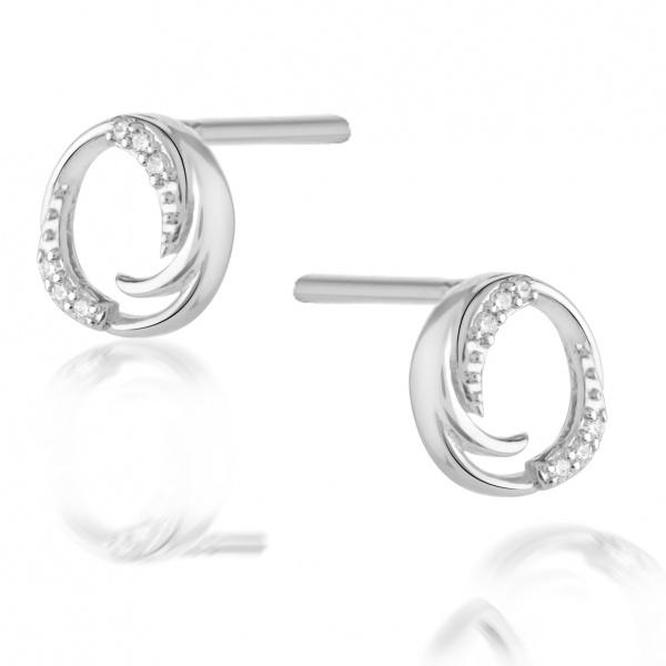 Molto Ice Stud Earrings CZ