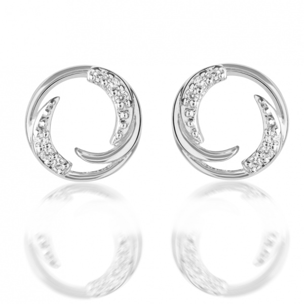Molto Ice Stud Earrings CZ