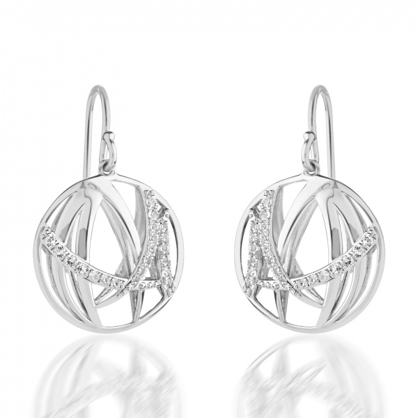 Molto Ice Drop Earrings Diamonds