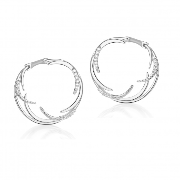 Molto Ice Split Hoops Diamonds