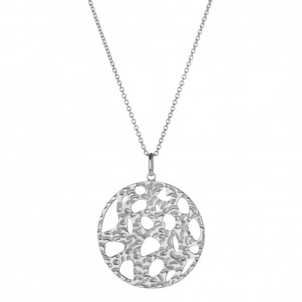 Molten Large Pendant Silver