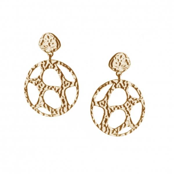 Molten Drop Stud Earrings Yellow Gold
