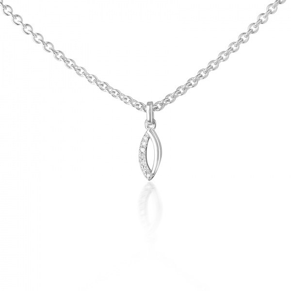 Molto Link Small Pendant Diamond