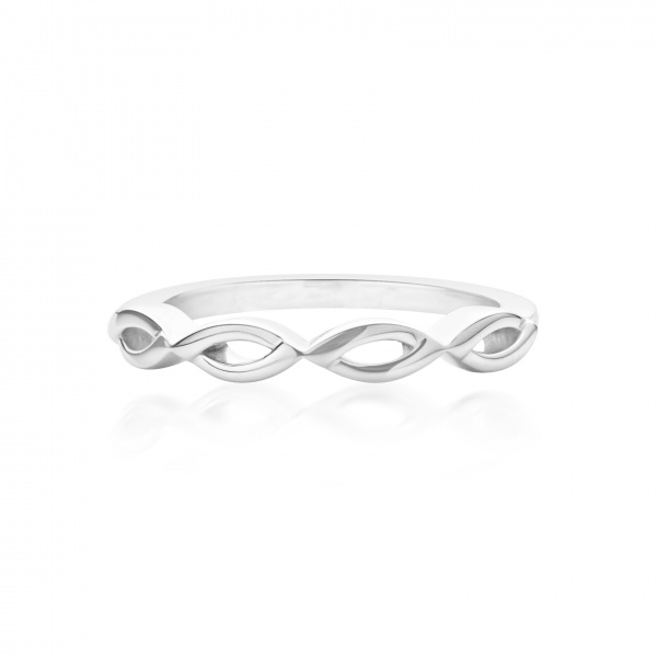 Molto Link Plain Ring Size P