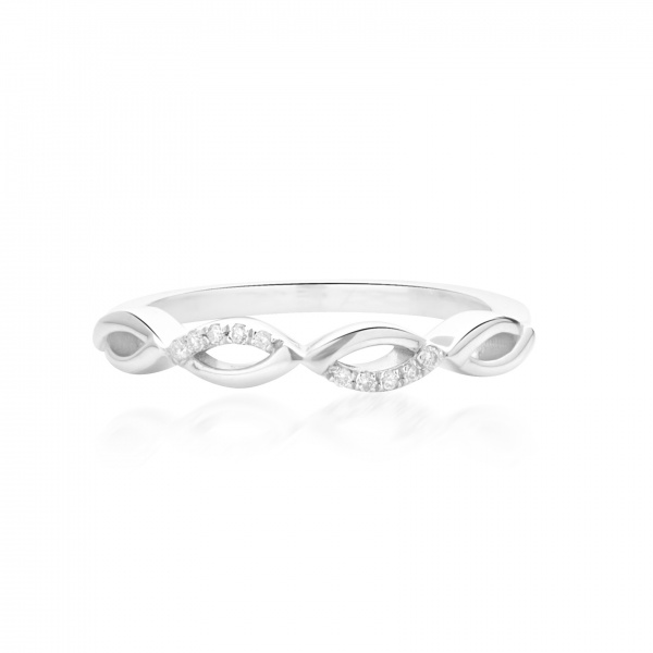 Molto Link Diamond Ring Size N