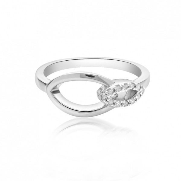 Molto Link Double Diamond Ring P