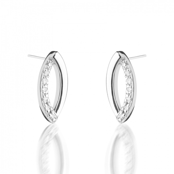 Molto Link Diamond Earrings