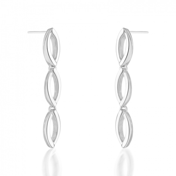 Molto Link Triple Earrings