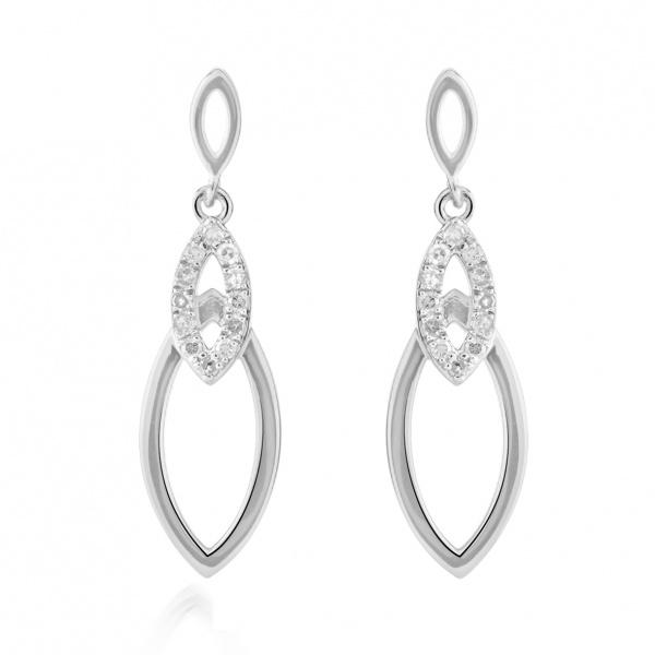 Molto Link Diamond Earrings