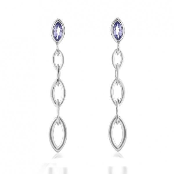 Molto Link Tanzanite Earrings