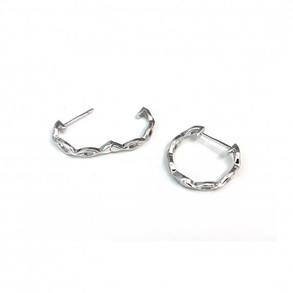 Molto Link Hoop Earrings