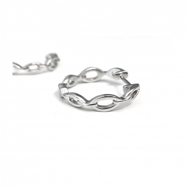 Molto Link Hoop Earrings