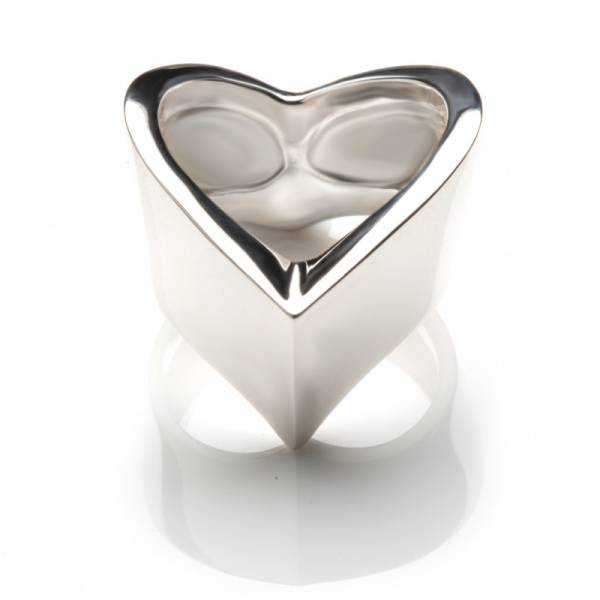 Wide Wishbone Ring Silver