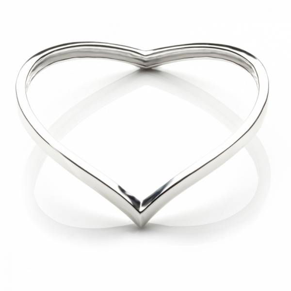 Plain Bangle Silver