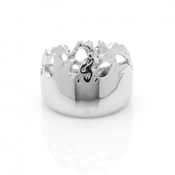 Molten Half Ring - Size N