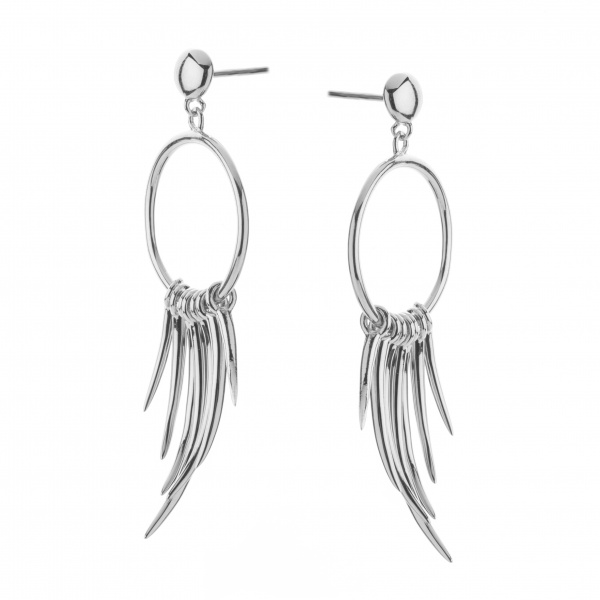 Molto Spike Earrings Silver