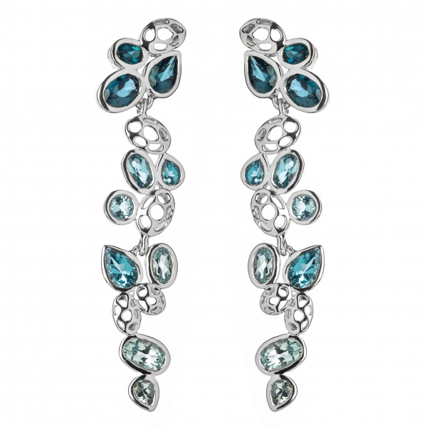 Misto Drop Earrings Topaz