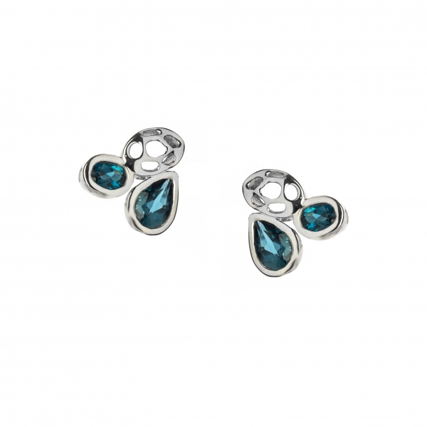 Misto Stud Earrings Topaz