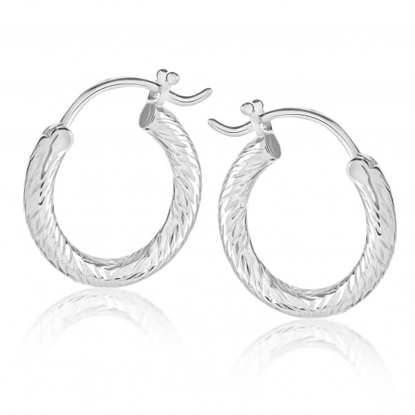Ocean Medium Hoop Earrings