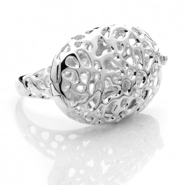 Pebble Locket Ring Size N