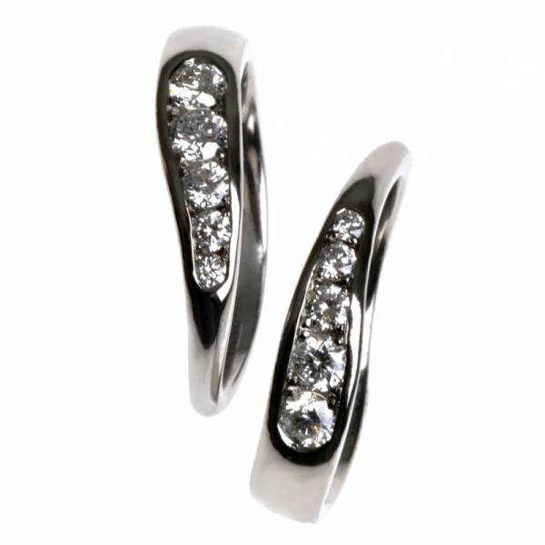 Platinum and Diamond Twin Rings