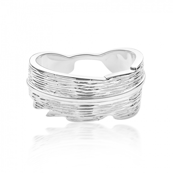 Plume Ocean Band Ring - Size P