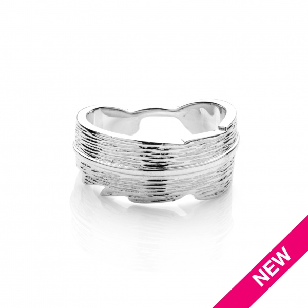 Plume Ocean Band Ring - Size N