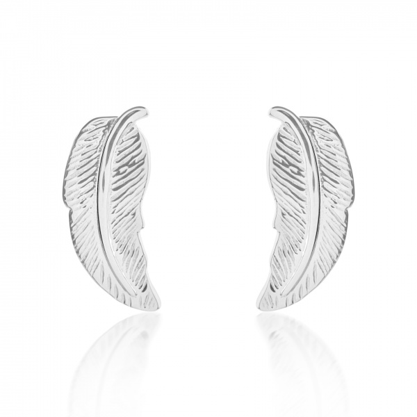 Plume Ocean Stud Earrings