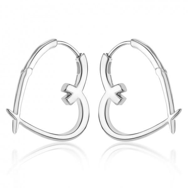 Molto  Heart Hoop Earrings