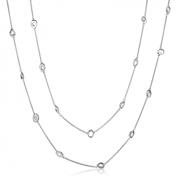 Ocean Loop Longline Necklace 30 Inch