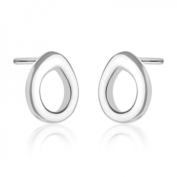 Ocean Loop Stud Earrings