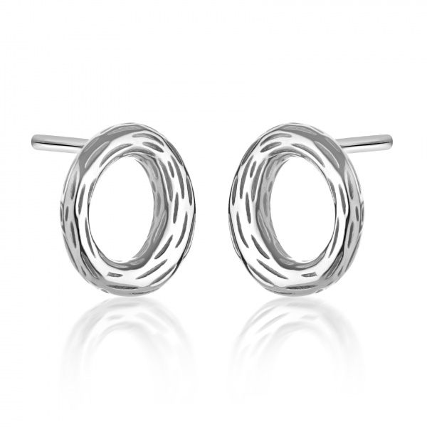 Ocean Loop Textured Stud Earrings