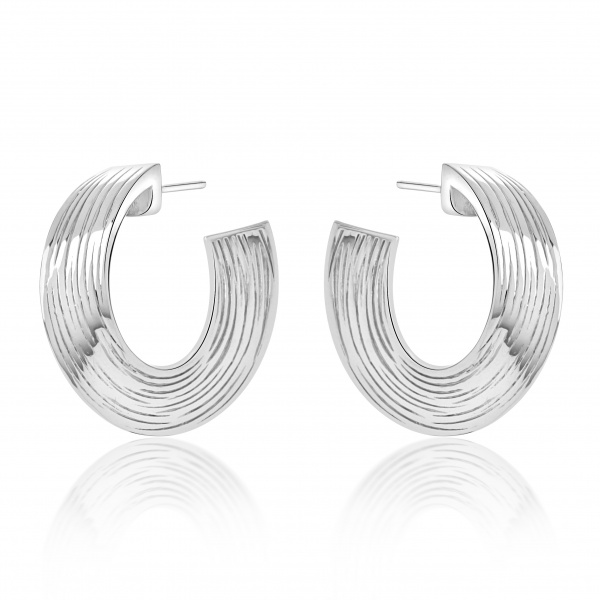 Warp Ocean Hoop Earrings