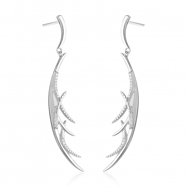 Molto Ice Strand Earrings Diamonds
