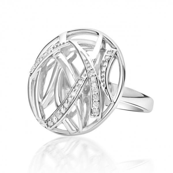 Molto Ice Disc Ring Diamonds Size L